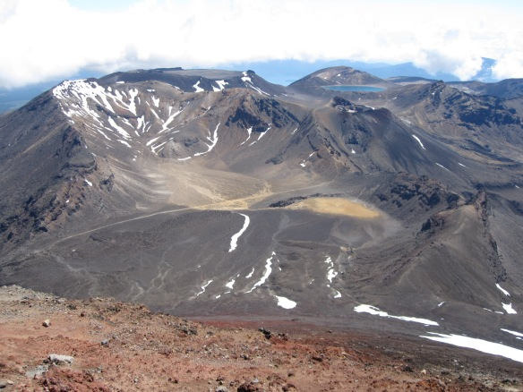 Mt Tongariro from Mt Ngauruhoe, A McCredie photo