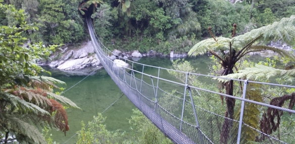 Swing bridge Otaki River