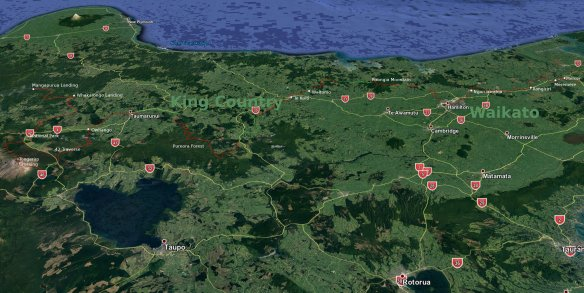 3D King Country - Waikato from east